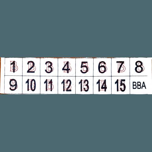 Фишки для игры «Бинго» со шрифтом Брайля