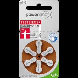 Батарейки для слуховых аппаратов 312 Power One