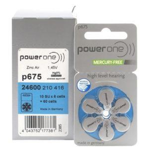 Батарейки для слуховых аппаратов 10 Power One