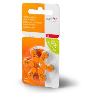Батарейки для слуховых аппаратов тип 13 (Audifon)