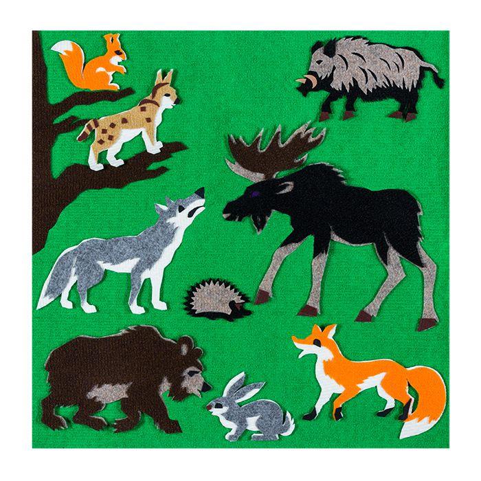 Игра-пособие для детей 3+ Лесные животные