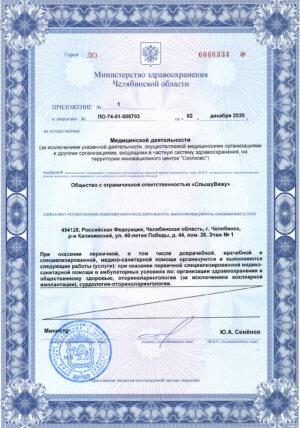 Лицензия медицинских услуг стр. 3